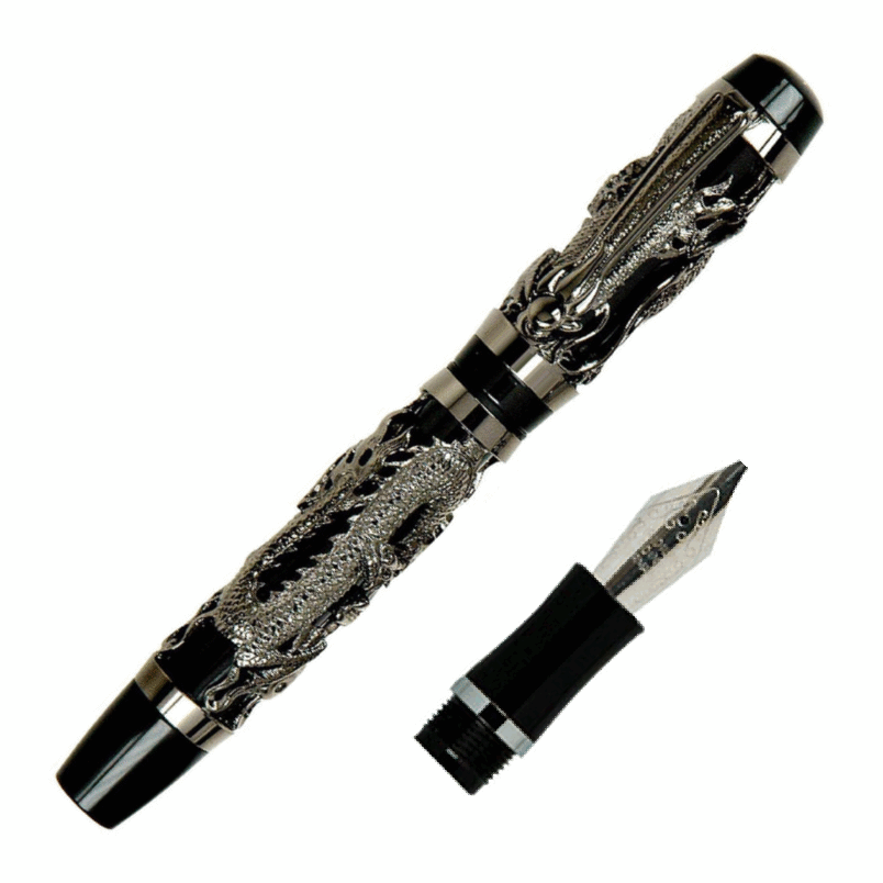 Gunmetal Dragon Fountain Pen